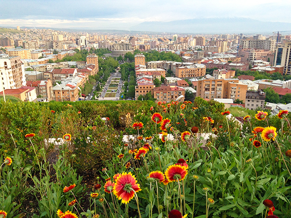 A view of Yerevan from Cascade