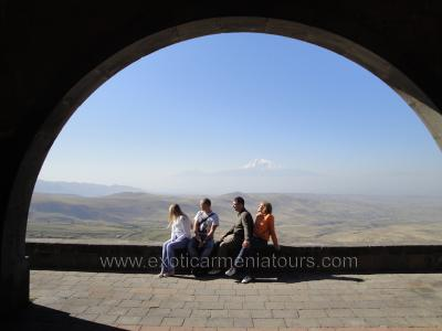 At the Arch of Charents on the way to Garni.