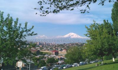 Yerevan with the view of Mount Ararat