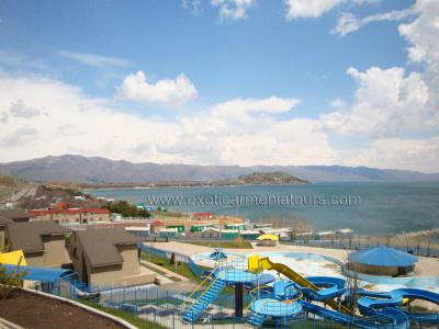 The Waterpark of Hasnaqar, at the Lake Sevan